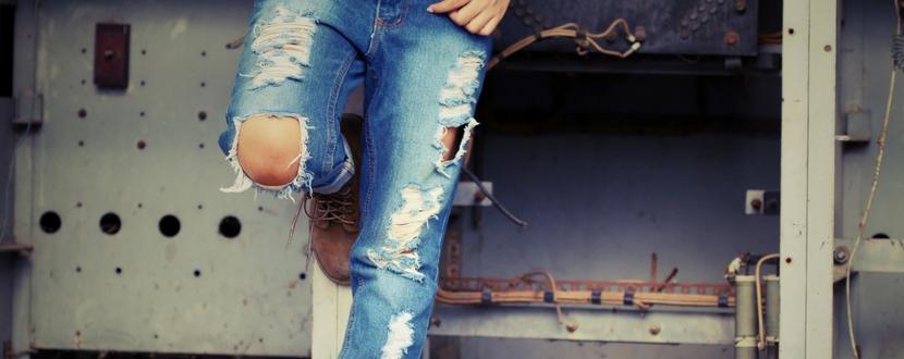 designer distressed jeans
