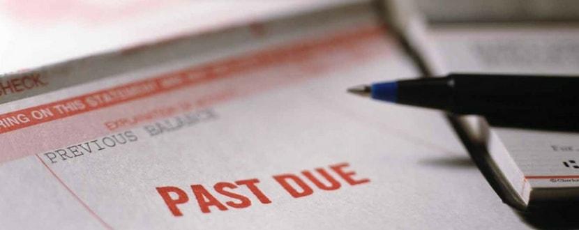 overdue credit card bill waste money