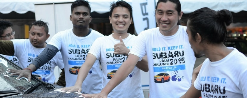 Contestants at the Subaru Palm Challenge 2015. Image source: Auto Freaks