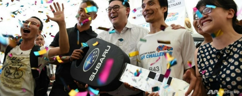 Vietnamese national Nguyen Phuoc Huynh was the winner of the 2016 Subaru Challenge. Photo source: Channel News Asia