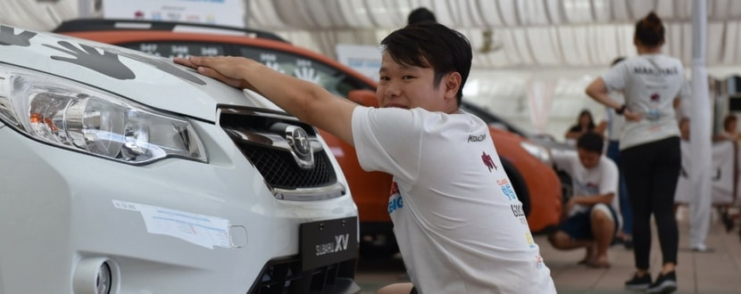 Contestant at the 2015 Subaru Challenge. Photo source: Channel News Asia