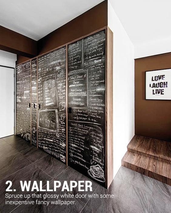 black chalkboard as wallpaper