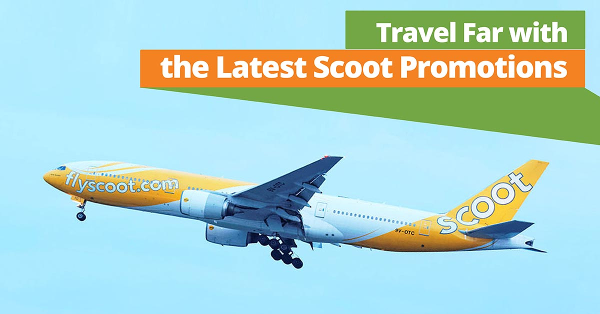 scoot airplane in flight
