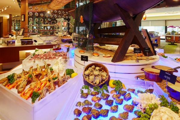 citibank buffet promotion at Aquamarine,Marina Mandarin Singapore