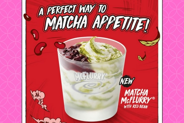 mcdonald's matcha mcflurry with red bean promotion