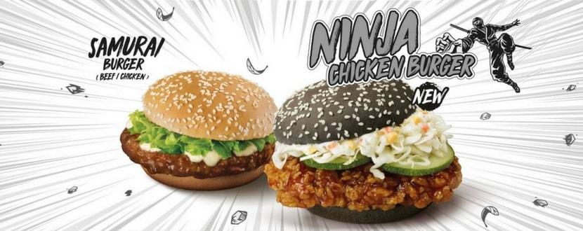 mcdonald's samurai burger ninja chicken burger promotion