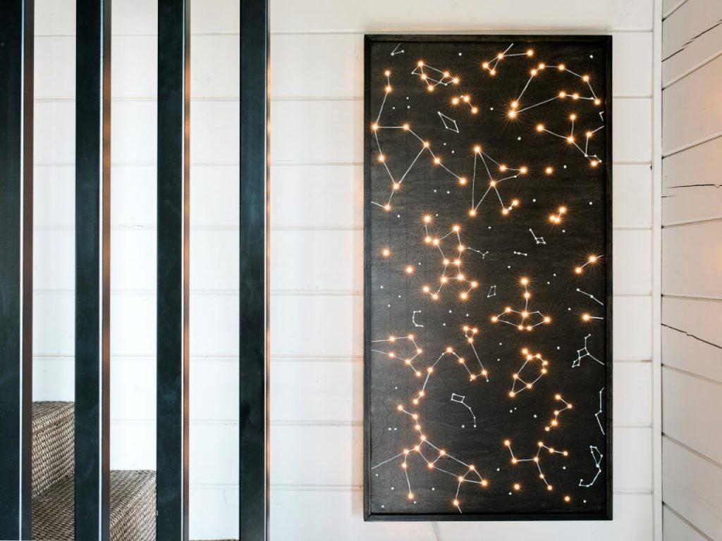 constellation wall art light