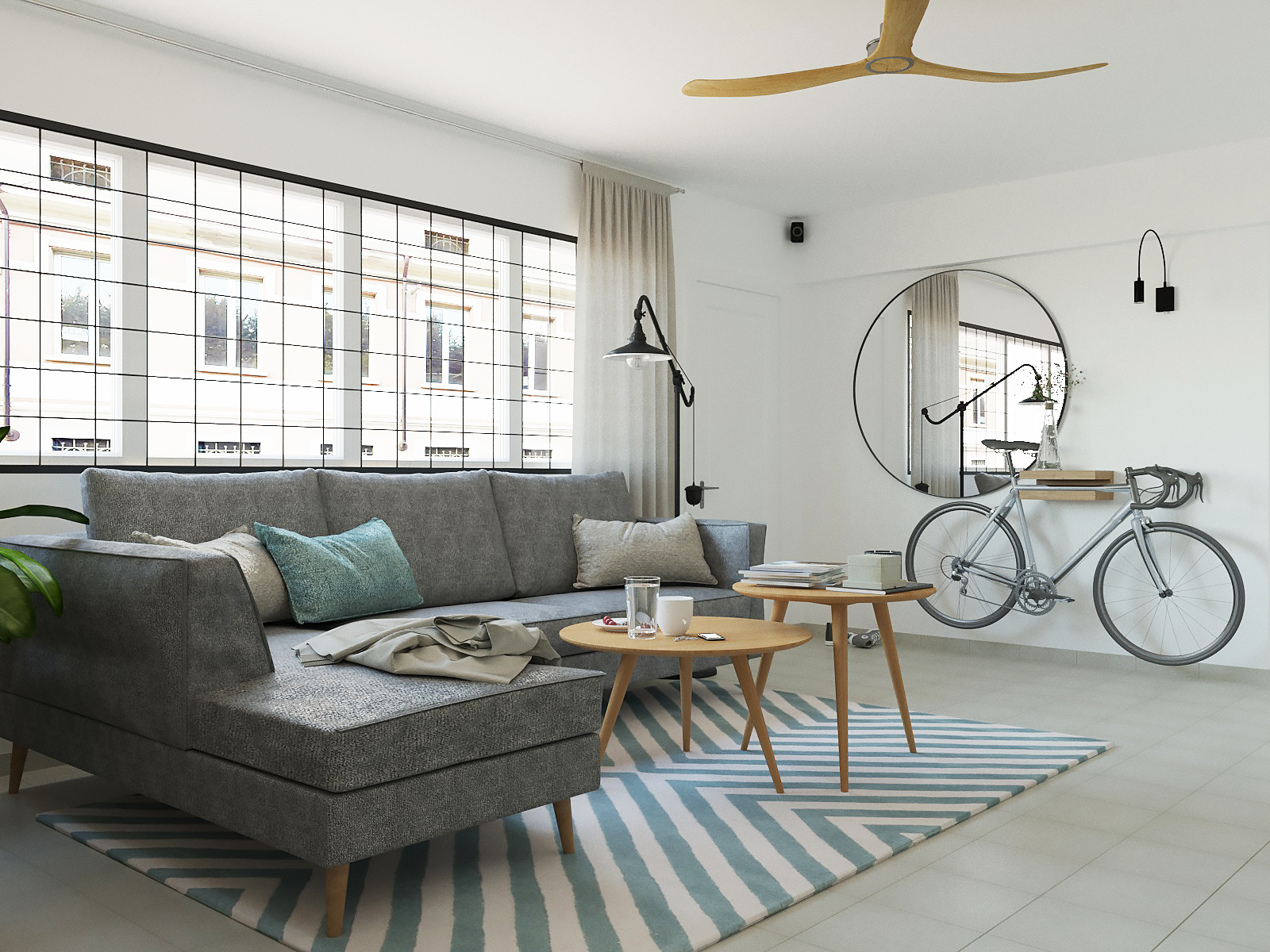 hdb interior white decor