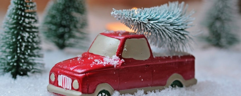 toy car in the snow