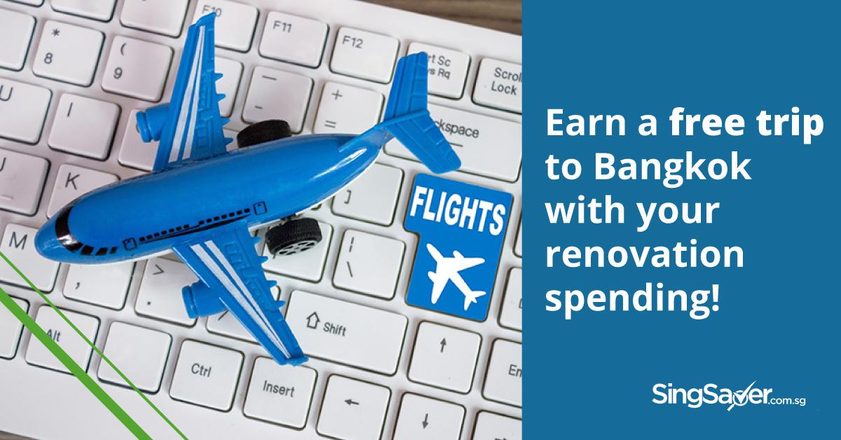 free airplane flight to bangkok