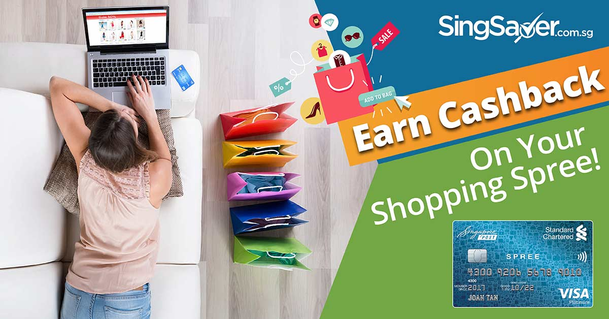 cashback while online shopping with standard chartered spree