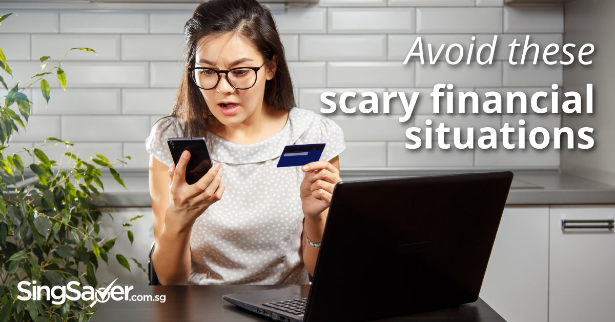 woman scared by financial situation