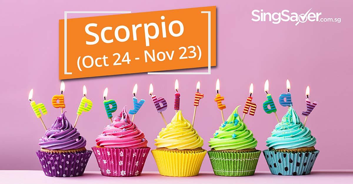 Birthday deals for people born in Scorpio zodiac month