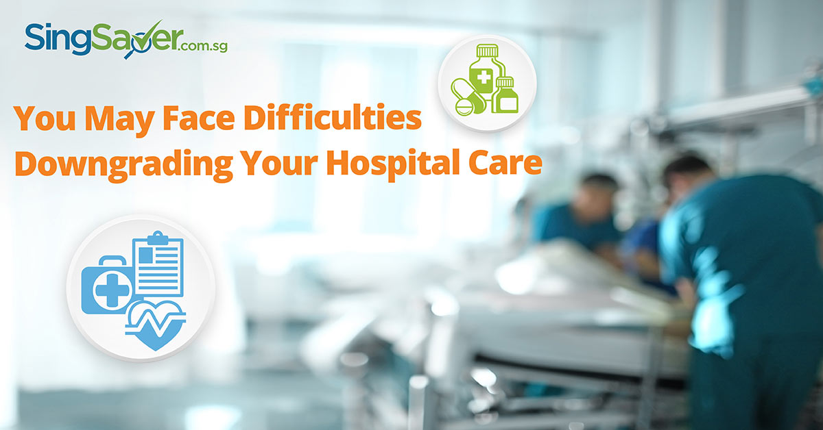downgrading from private care to public hospital