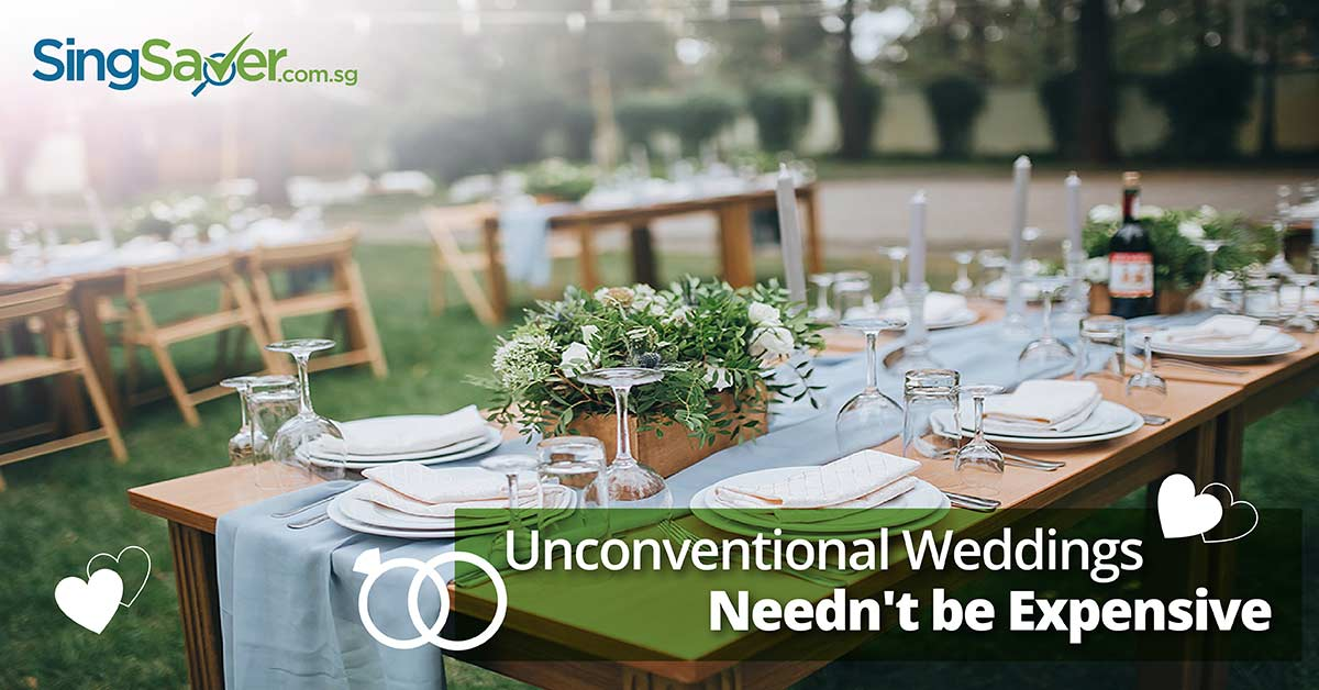 Affordable unconventional wedding in the park