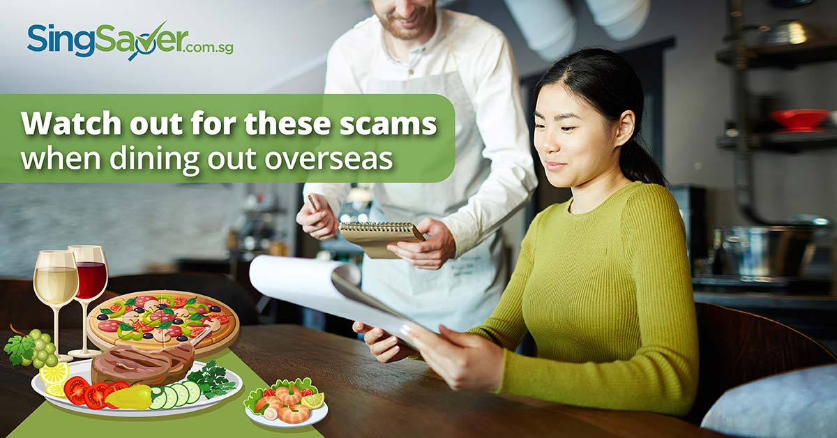 restaurant scams to watch out for overseas