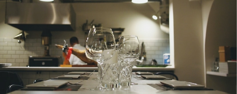 wine glasses in a kitchen - SingSaver
