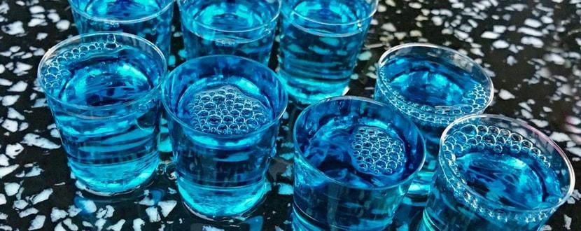 blue alcohol shots - SingSaver