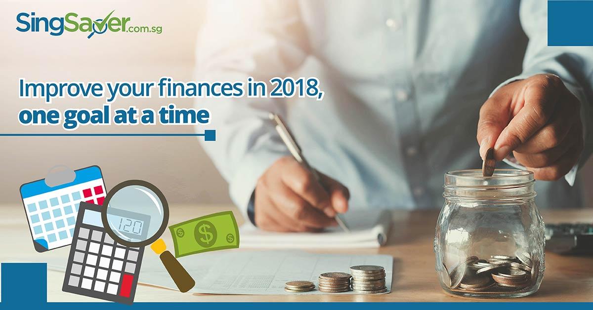 man calculating finances and saving coins in jar - SingSaver