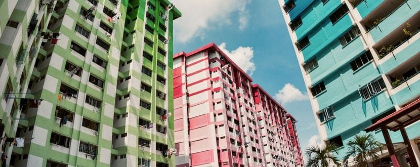 HDB blocks apartment - SingSaver