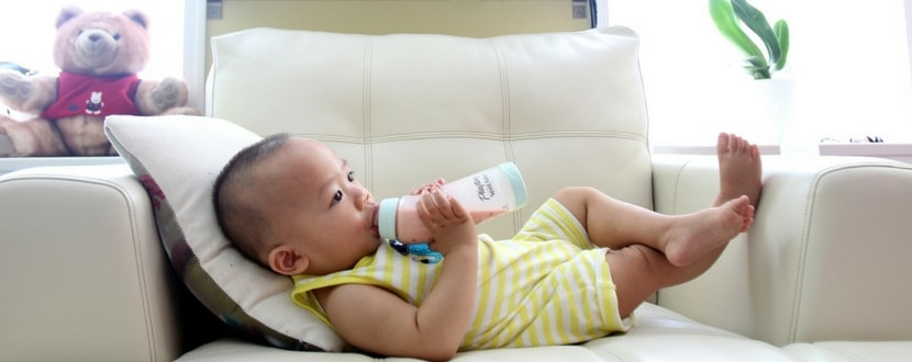 baby drinking infant formula milk - SingSaver