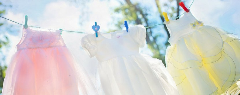 dresses hanging to dry under the sun - SingSaver