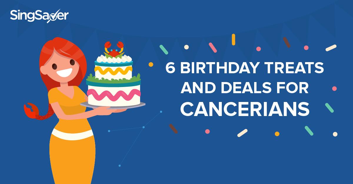 Lady holding a birthday cake, cancerians -SingSaver