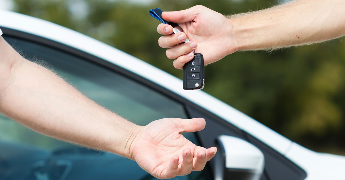 Handing over the car keys - SingSaver