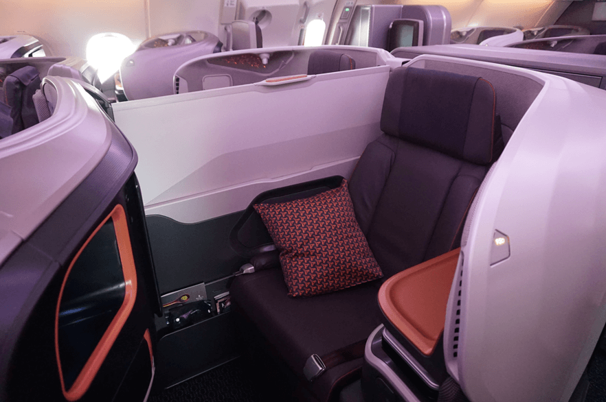 business class seats air miles
