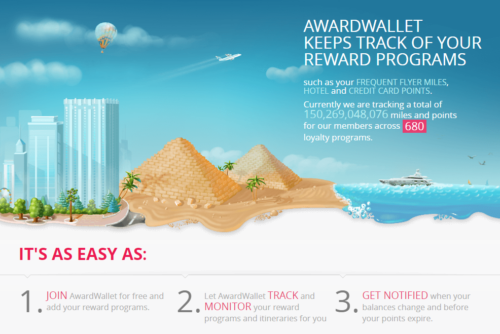 Track your points with AwardWallet