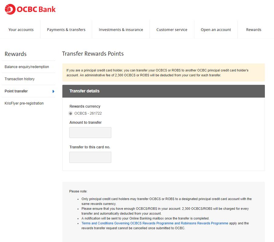 OCBC Bank Rewards