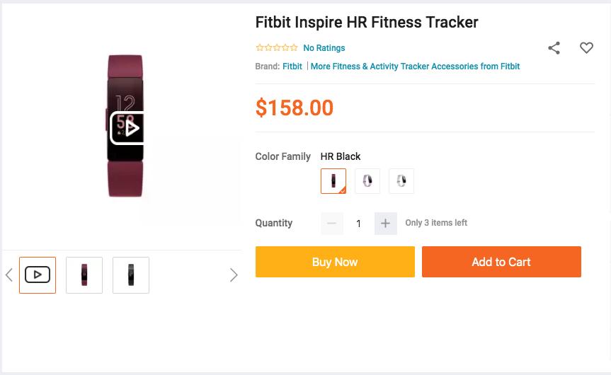 Fibit Inspire HR tracker on lazada