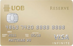 UOB Reserve - The Four Most Exclusive Credit Cards in Singapore | SingSaver