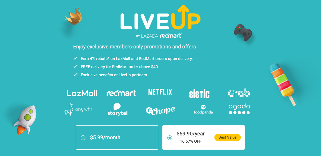 LiveUp Membership offers and details